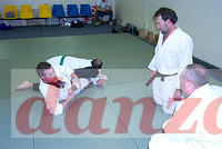 Jeff Slade of Lake Charles, LA demonstrates Tatsumaki Jime at Sensei Robin Martin's old dojo.