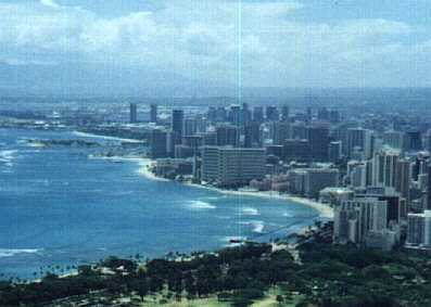 View of Waikiki from the top of Diamond Head